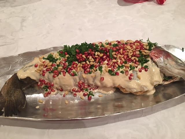 Stuffed Salmon with tahini